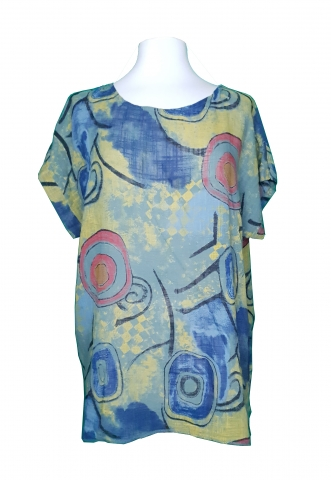 Picasso Painting Top - Grey