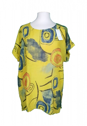 Picasso Painting Top - Yellow