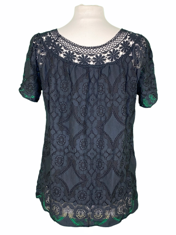 Solid Lace Top in Black