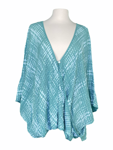 Poncho Style Top in Muted Sea Green