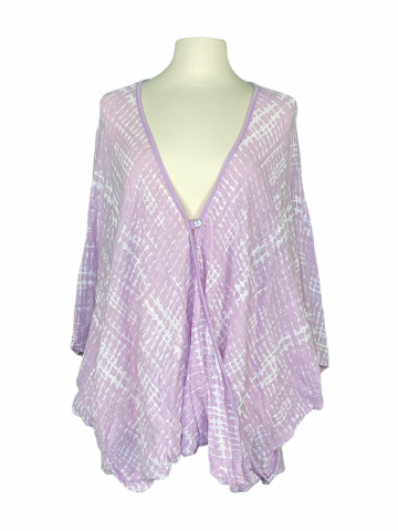 Poncho Style Top in Lavender