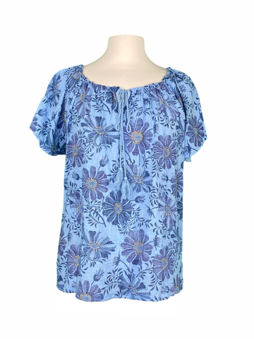Off the shoulder top - Dusty Blue