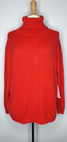 Polo Neck Jumper - Red