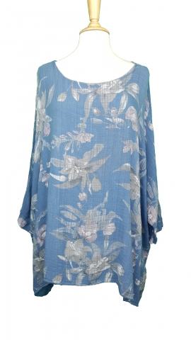 Poncho Style Floral Top