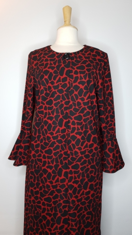 Red Leopard Open Front Top