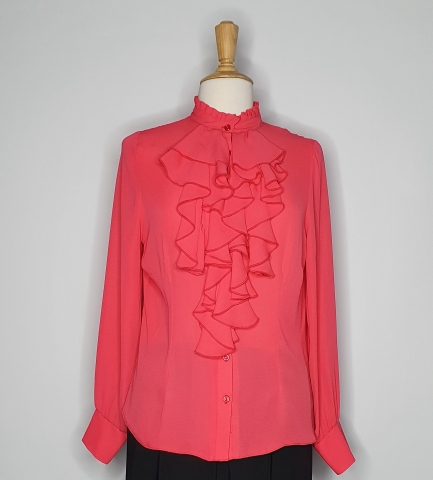 Pink Frill neck