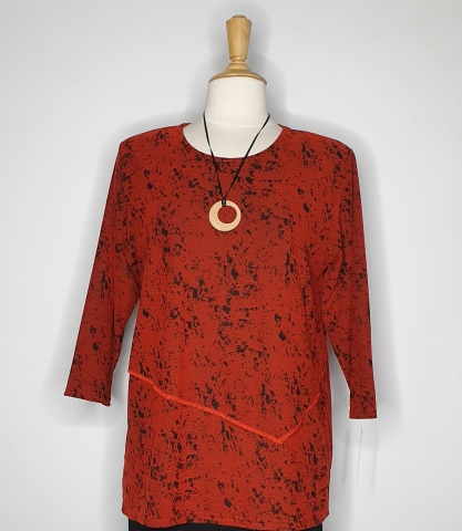 Red Double Layer Top