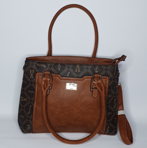Light Brown Leather Inverted - Gold Print