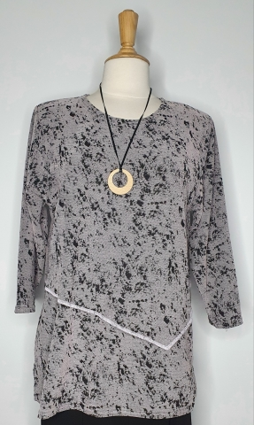 Grey Double layer Top
