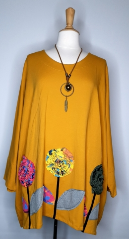 Baggy Cotton Top - Yellow
