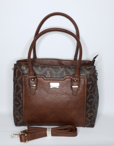 Brown Leather Inverted - Gold Print